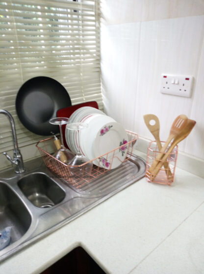 Morrisons Copper Cutlery and Dish Drainer Set