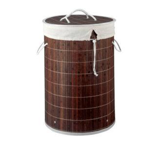 # Bamboo Laundry Hamper - 42 Litres (Dark)