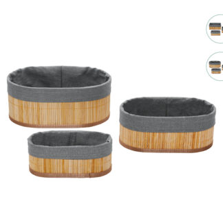 LIVARNO LIVING bamboo storage baskets - 3 set