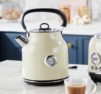 Ambiano Retro Electric Kettle - 1.7 L - High Gloss Cream