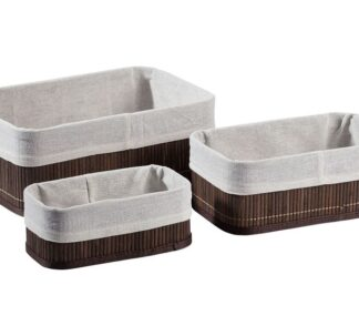 # LIVARNO LIVING bamboo storage baskets - 3 set (dark brown)
