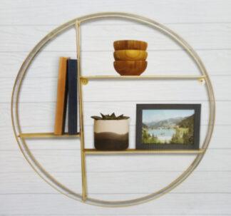 Premium Round Wire Shelf - Gold
