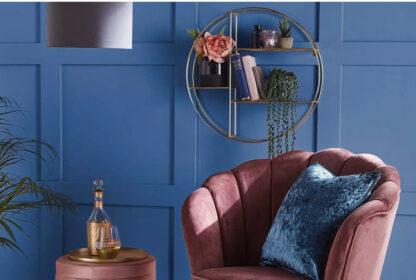 Premium Octagon Wire Shelf - Copper