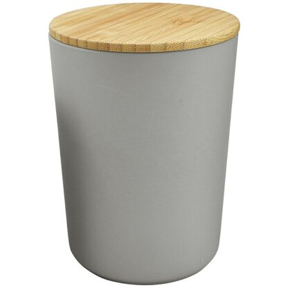 # Kirkton House Kitchen Ceramic Canisters with Bamboo Lids- Large Grey- 1000ml
