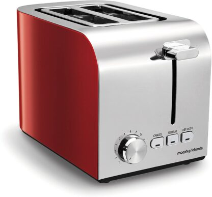 # Morphy Richards Red Equip 2 Slice Toaster