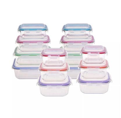 Berkley Jensen 28-Pc. Square & Rectangle Glass Food Storage Containers