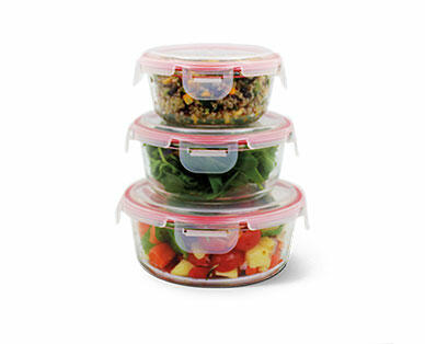 Crofton 6-Piece Glass Bowls with Snapping Lids
