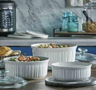 CorningWare French White 8-Piece Bakeware Set
