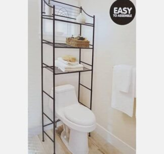 Easy Home Bathroom Space Saver Shelf- Oil Rubbed Bronze