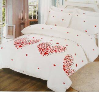 Polka Heart Bed Sheet