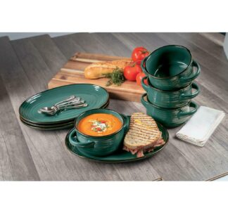Member's Mark 8 Pc Bowl and Platter Set - Electic Green