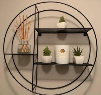 Premium Round Wire Shelf - Black