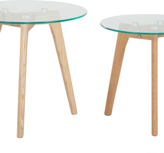 Glass Side Tables - Set of 2