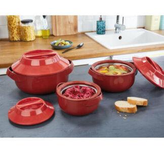 Ernesto 3 Insulated Bowl Set, Microwave & Freezer Safe - 1.45 L, 840ml, 420ml