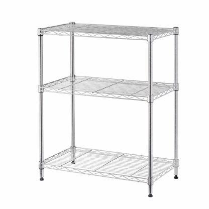 home storage space 3 shelf multi-purpose storage rack