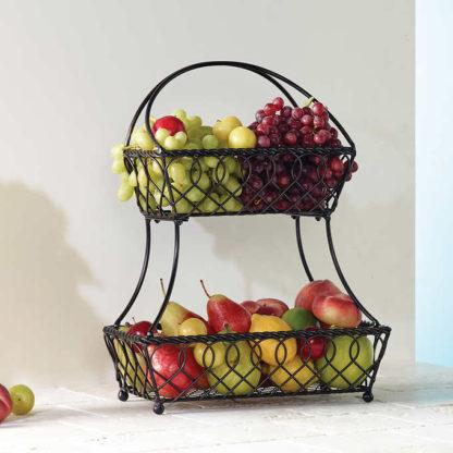 Gourmet Basics 2 Tier Flatback Basket by MIKASA