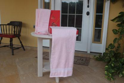 3 set towels & Gift bag - light pink