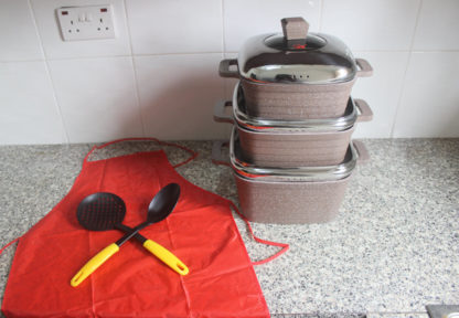 J10 Original 11pcs Granite Coating Cookware - mocha