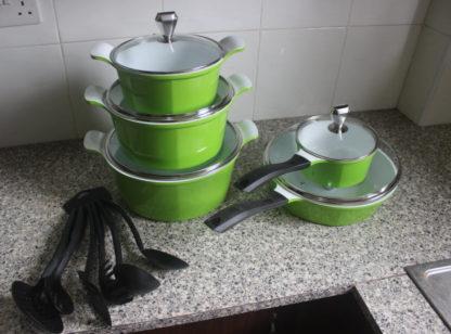 Messi 19 pcs non-stick cookware set