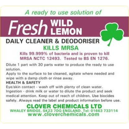 Clover Fresh Lemon Daily Cleaner & Disinfectant