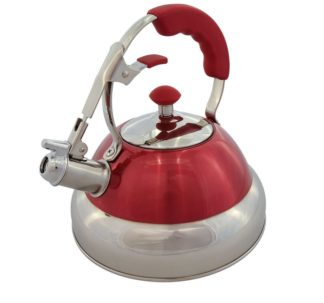 Member's Mark 2.7 Qt. Stainless-Steel Tea Kettle -Red