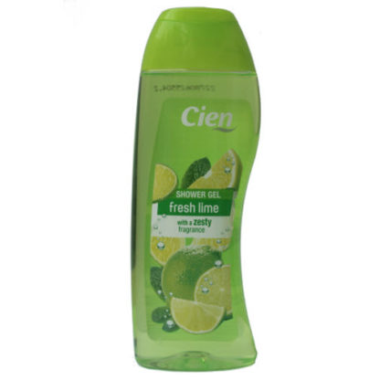 Cien Shower Gel, fresh lime with a zesty fragrance -300ml