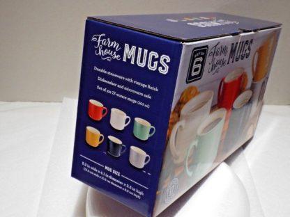 6-Piece Farmhouse Mug Set (Assorted Colors)