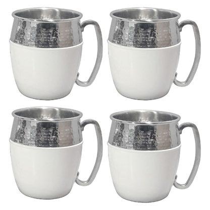 Member's Mark Hammered Mule Mugs, 4 Pack - White