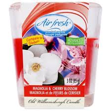 Air Fresh Scented Candle- Magnolia and Cherry Blossom