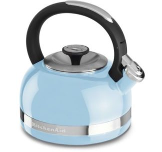 KitchenAid Whistling Porcelain Enamel Kettle - 1.9L (Cameo Blue)