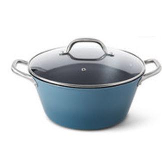 Crofton Lightweight Cast Iron Dutch Oven -5.68L Blue