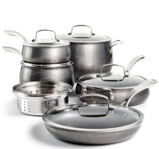 Belgique 11 Piece Quality Home Cookware Set | Non-Stick Aluminum | Black Translucent | High End Non-Stick Cookware
