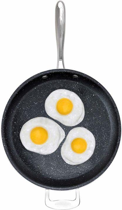 Graniterock Triple Layer Non-stick fry pan with fry pan with Titanium - Round