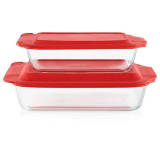 Pyrex 50% Deeper Baking Dish 2 piece set