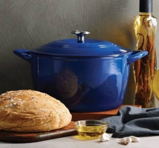 Tramontina Enameled Cast Iron 7 qt / 6.62-Litres Covered Dutch Oven - Blue