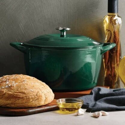 Tramontina Enameled Cast Iron 7 qt / 6.62-Litres Covered Dutch Oven - Green