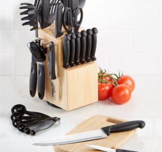Martha Stewart Essentials 30-Piece Cutlery Set