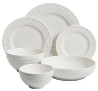 # Gibson Elite 48-Piece Porcelain Dinnerware Set - Hyperion