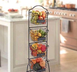 Gourmet Basics by Mikasa 4-tier Market Basket