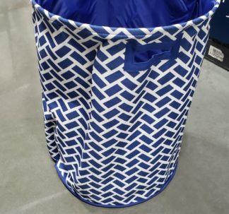 "Nautica Jumbo Clothes Hamper Basket, Blue 18"" X 24"""