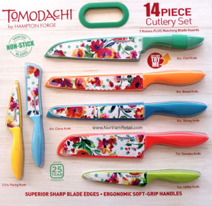 14-pcs Tomodachi Prints Cutlery Set -Ava Flora