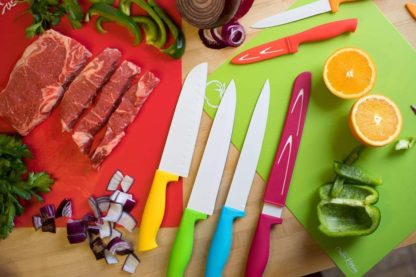 Kitchen Living 4 Piece Flexible and Colour Coded Cutting Boards