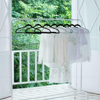 Flocked Non-Slip Space Saving Clothes Hangers - 50 Pack