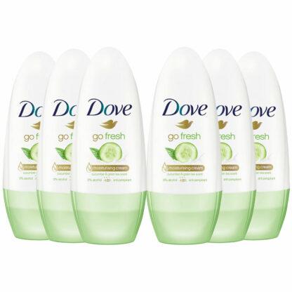 #Dove Go Fresh Cucumber & Green Tea Scent Antiperspirant Deodorant Roll-On 50ml (Pack of 6) (Copy)