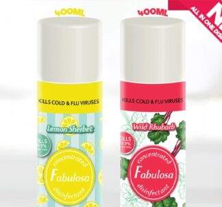 Fabulosa All In One Lemon Sherbet and Wild Rhubarb - 400ml (2 pack)