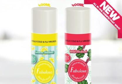 Fabulosa All In One Lemon Sherbet and Wild Rhubarb - 400ml (2 pack)