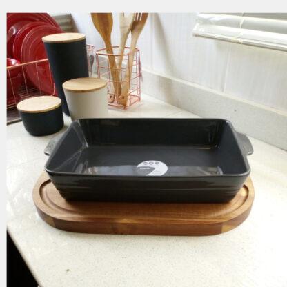 Morrisons Ceramic Rectangular Roaster - 31 Cm