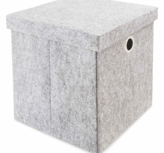 # Kirkton House Storage Cube with Lid - Grey Felt
