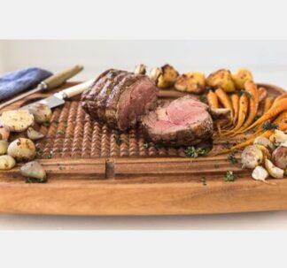 Premium Acacia Wood Meat Carving Board - 40 cm x 30 cm