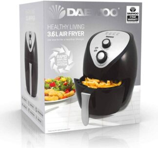 Daewoo Healthy Living Family 3.6L Oil Free Fast Frying Fryer with Rapid Air Flow Circulation